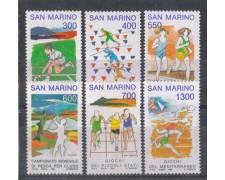 1993 - LOTTO/8130 - SAN MARINO - AVVENIMENTI SPORTIVI - NUOVI