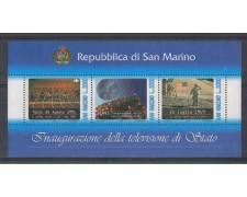 1993 - LOTTO/8133 - SAN MARINO - TELEVISIONE - FOGLIETTO