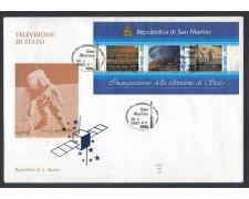 1993 - LOTTO/8133Z - SAN MARINO- TELEVISIONE FOGLIETTO - FDC