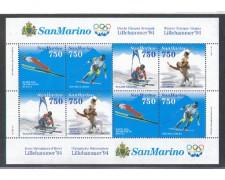 1994 - LOTTO/8139 - SAN MARINO - OLIMPIADI DI LILLEHAMMER