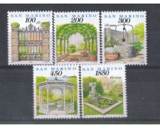 1994 - LOTTO/8141 - SAN MARINO - GIARDINI 5v. NUOVI