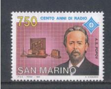 1994 - LOTTO/8142 - SAN MARINO - INVENZIONE DELLA RADIO