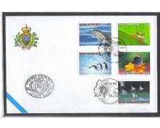 1996 - LOTTO/8164Z - SAN MARINO - MONDO NATURA - FDC