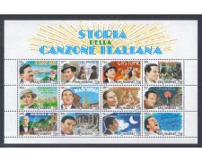 1996 - LOTTO/8168 - SAN MARINO - CANZONI - FOGLIETTO