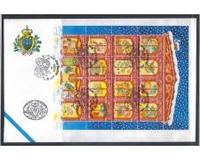 1996 - LOTTO/8173Z - SAN MARINO - NATALE FOGLIETTO - FDC