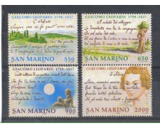 1998 - LOTTO/8190 - SAN MARINO - GIACOMO LEOPARDI 4v. - NUOVI