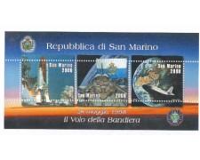 1998 - LOTTO/8193 - SAN MARINO - BANDIERA NELLO SPAZIO - FOGLIETTO