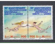 1998 - LOTTO/8197 - SAN MARINO - DIRITTI DELL'UOMO