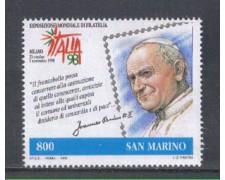 1998 - LOTTO/8198 - SAN MARINO - ITALIA 98 - PAPA