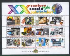 2000 - LOTTO/8216 - SAN MARINO -  XX° SECOLO - FOGLIETTO