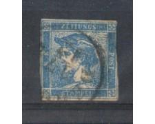 LOMBARDO VENETO - 1851 - LOTTO/5465A - 3c. MERCURIO PER GIORNALI