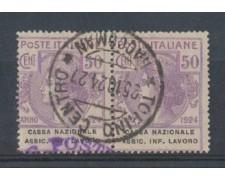 1924 - LOTTO/REGSS21CU - REGNO - 50c. CASSA NAZ. ASSIC.INFORTUNI