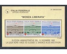 1992 - LOTTO/1706 - PADANIA - MONZA LIBERATA