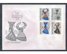1966 - LOTTO/4589Z - LIECHTENSTEIN - STEMMI NOBILIARI - FDC