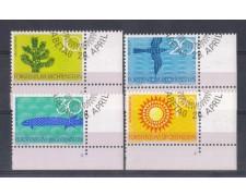1966 - LOTTO/4590U - LIECHTENSTEIN - PROTEZIONE NATURA - USATI