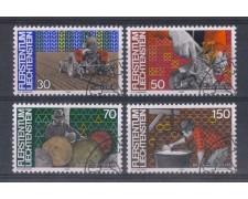 1982 - LOTTO/4576U - LIECHTENSTEIN - LAVORO - USATI