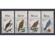1973 - LOTTO/5279U - GERMANIA FEDERALE - UCCELLI RAPACI - USATI