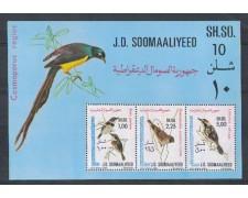 1980 - LBF/2759 - SOMALIA - UCCELLI SOMALI FOGLIETTO - NUOVO