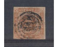 1854 - LOTTO/DAN4U - DANIMARCA - 4s. GIALLO BRUNO - USATO