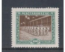 1925 - LOTTO/4775 - UNGHERIA - 100k. SPORT SFILATA
