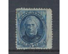 1875 - LOTTO/USA65U - STATI UNITI - 5c. AZZURRO Z.TAYLOR - USATO