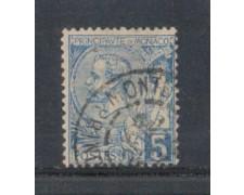 1891 - LOTTO/905A - MONACO - 5c. AZZURRO