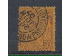 1891 - LOTTO/905B - MONACO - 50c. LILLA BRUNO