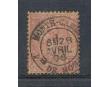 1891 - LOTTO/905DU - MONACO - 15c. ROSA - USATO