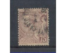 1891 - LOTTO/905FU - MONACO - 75c. VIOLETTO BRUNO USATO
