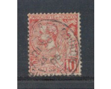 1901 - LOTTO/4953UA - MONACO - 10c.  ROSSO - USATO