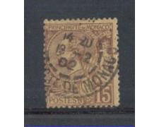 1901 - LOTTO/4953UB - MONACO - 15c. BRUNO LILLA - USATO