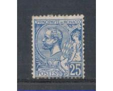 1901 - LOTTO/4953UC - MONACO - 25c. AZZURRO