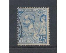 1901 - LOTTO/4953UD - MONACO - 25c. AZZURRO - USATO