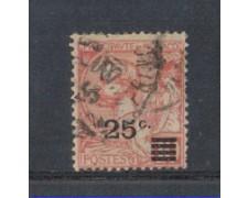 1922 - LOTTO/8493U - MONACO - 25 SU 10c. ROSA - USATO