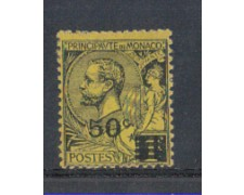 1922 - LOTTO/8494 - MONACO - 50c. SU 1Fr. NERO GIALLO