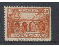 1922 - LOTTO/8495U - MONACO - 40c. BRUNO VEDUTE - USATO