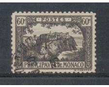 1922 - LOTTO/8496U - MONACO - 60c. GRIGIO VEDUTE - USATO
