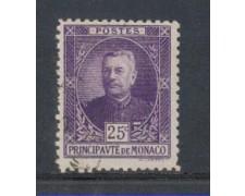 1923 - LOTTO/8499UC - MONACO - 25c. LUIGI II° - USATO