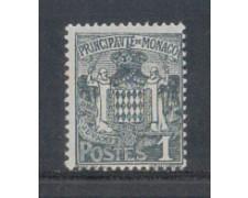 1924 - LOTTO/8501 - MONACO - 1c. GRIGIO STEMMA