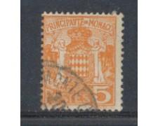 1924 - LOTTO/8504U - MONACO - 5c. GIALLO STEMMA - USATO