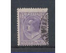 1924 - LOTTO/8507U - MONACO - 15c. VIOLETTO - USATO