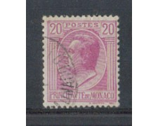 1924 - LOTTO/8508U - MONACO - 20c. LILLA - USATO