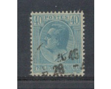 1924 - LOTTO/8514U - MONACO - 40c. AZZURRO - USATO