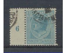 1924 - LOTTO/8514UB - MONACO - 40c. AZZURRO BORDO NUMERATO