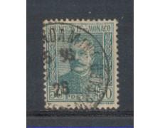 1924 - LOTTO/8516U - MONACO - 50c. VERDE GRIGIO - USATO