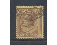 1924 - LOTTO/8517U - MONACO - 50c. BRUNO GIALLO - USATO