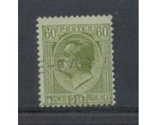 1924 - LOTTO/8519U - MONACO - 60c. OLIVA - USATO
