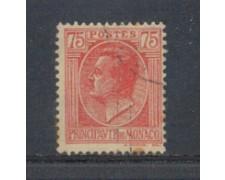 1924 - LOTTO/8521U - MONACO - 75c. ROSA SU PAGLIA - USATO