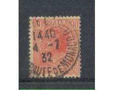 1924 - LOTTO/8524U - MONACO - 90c. ROSA SU PAGLIA - USATO