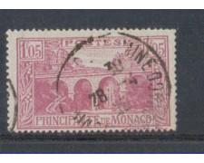 1924 - LOTTO/8526U - MONACO - 1,05 Fr. LILLA - USATO